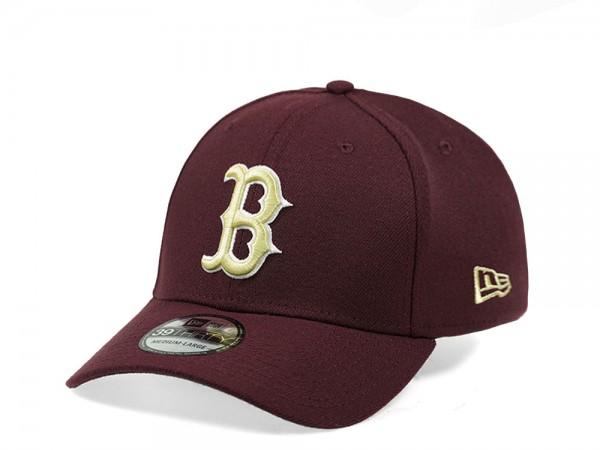 New Era Boston Red Sox Maroon Edition 39Thirty Stretch Cap
