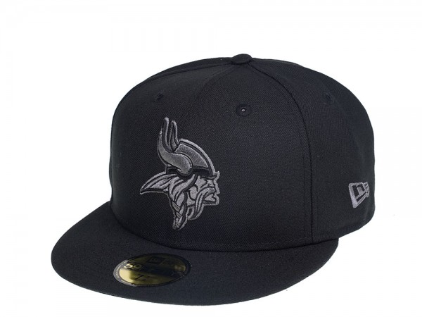 New Era Minnesota Vikings Dark Gray Edition 59Fifty Fitted Cap