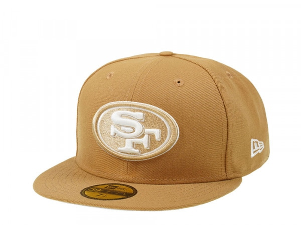 New Era San Francisco 49ers Wheat Edition 59Fifty Fitted Cap