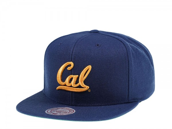 Mitchell & Ness California Golden Bears Wool Solid Snapback Cap