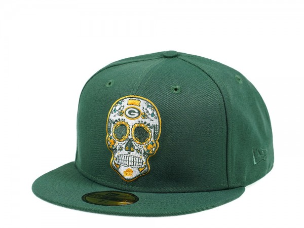 New Era Green Bay Packers Skull Edition 59Fifty Fitted Cap