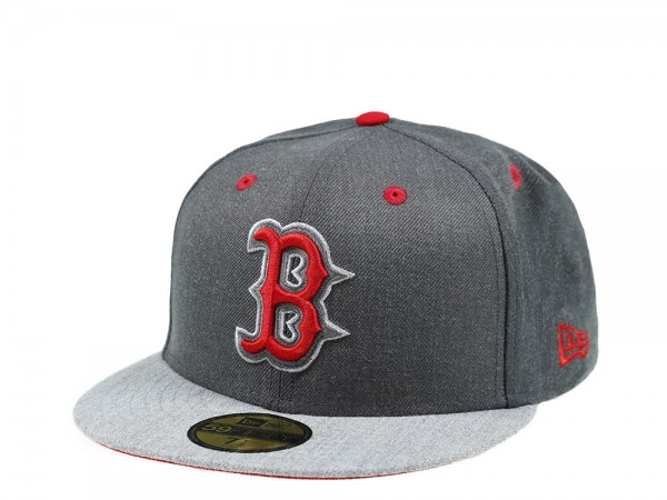 New Era Boston Red Sox Heather Pop Two Tone 59Fifty Fitted Cap