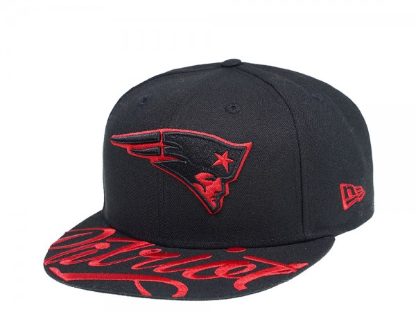 New Era New England Patriots Red Script 59Fifty Fitted Cap