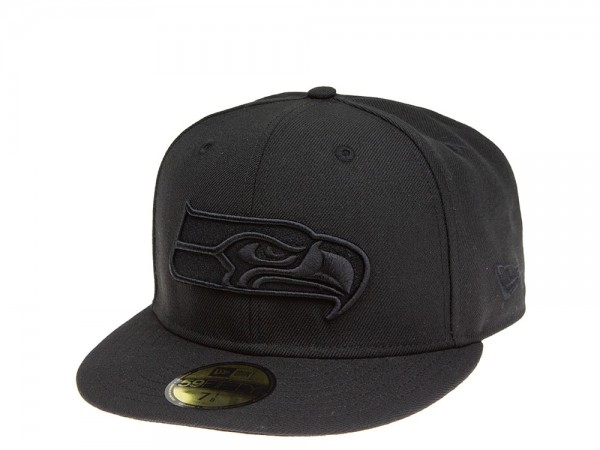 New Era Seattle Seahawks All About Black 59Fifty Fitted Cap