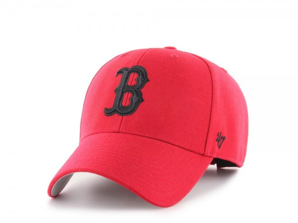 47Brand Boston Red Sox MVP Red and Black Strapback Cap