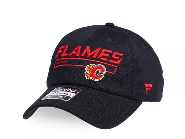 Fanatics Calgary Flames Authentic Pro Rinkside Adjustable Strapback Cap