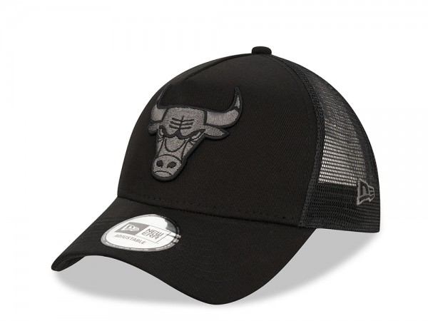 New Era Chicago Bulls Black Graphite Trucker Snapback Cap