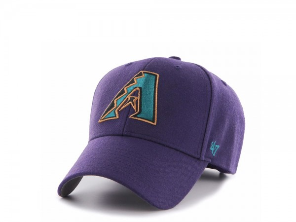 47Brand Arizona Diamondbacks Cooperstown Purple MVP Strapback Cap
