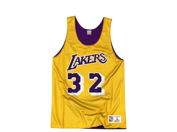 sports shoes a5611 7121e Mitchell & Ness Los Angeles Lakers Magic Johnson Reversible Mesh Jersey