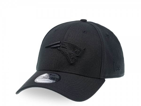 New Era New England Patriots Black on Black Edition 39Thirty Stretch Cap