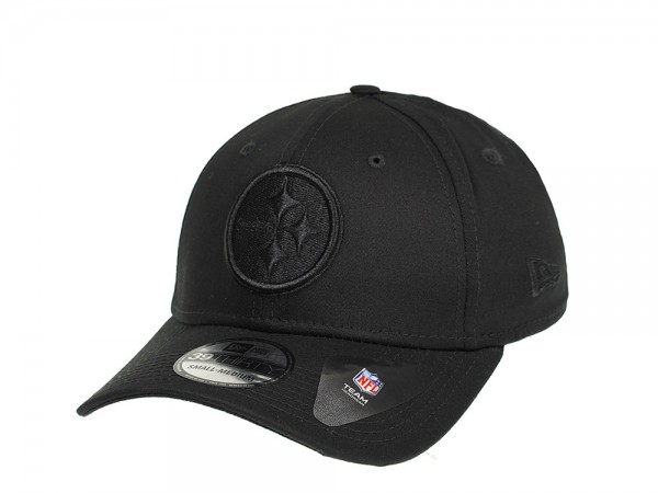 New Era Pittsburgh Steelers Black on Black Stretch Fit 39Thirty Cap
