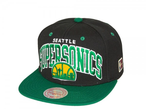 Mitchell & Ness Seattle Supersonics Team Arch Snapback Cap