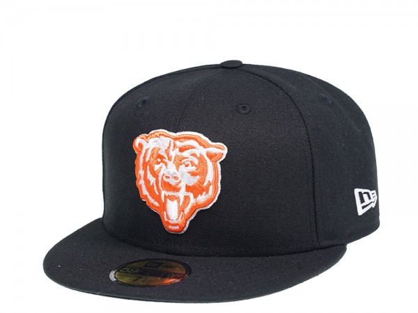 New Era Chicago Bears Black and Orange 59Fifty Fitted Cap