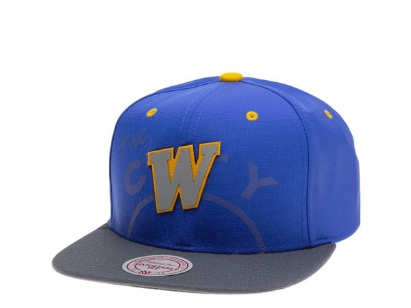Mitchell & Ness Golden State Warriors Reflective 2 Tone Snapback Cap
