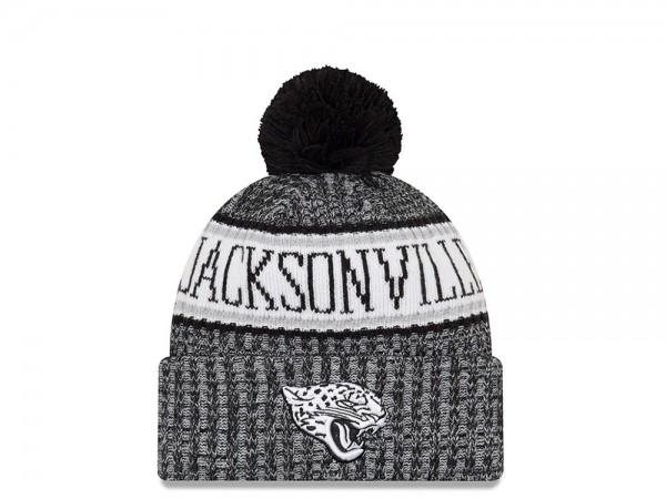 New Era Jacksonville Jaguars Black & White Sideline 2018 Mütze