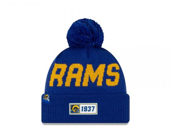 New Era Los Angeles Rams Helmed Sideline 2019 Road Mütze