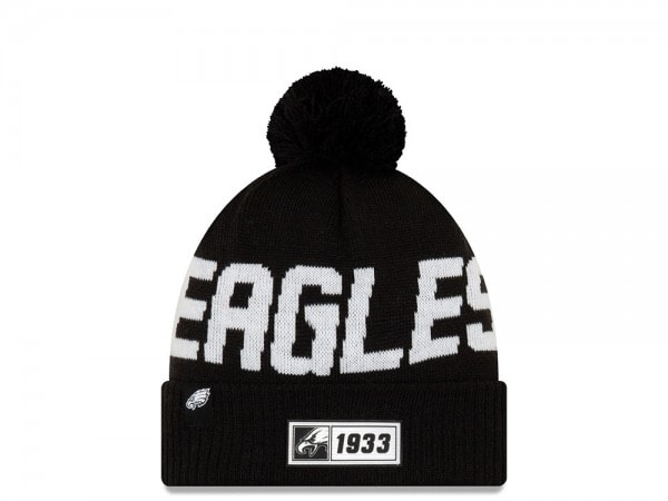 New Era Philadelphia Eagles Sideline 2019 Road Black Mütze