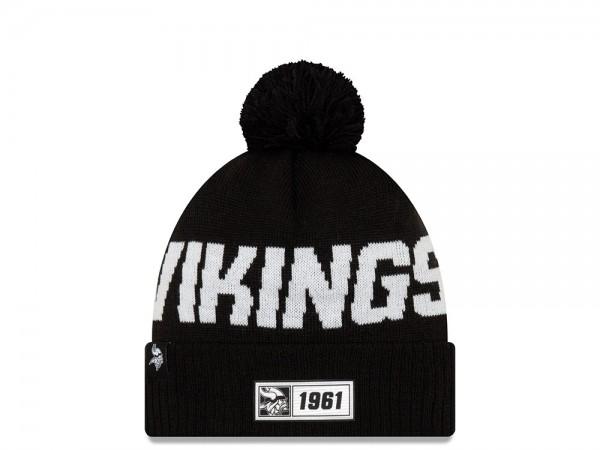 New Era Minnesota Vikings Sideline 2019 Road Black Mütze