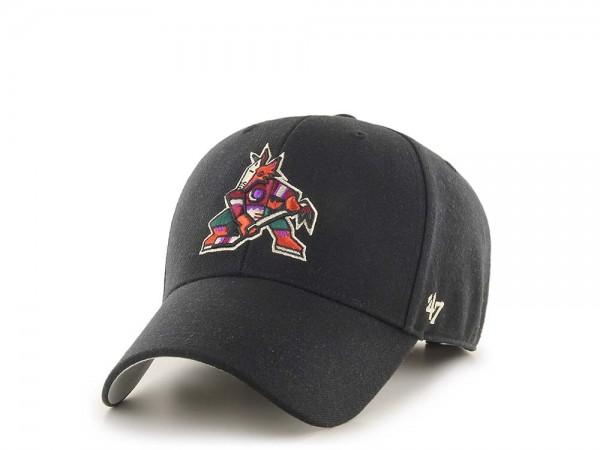 47Brand Arizona Coyotes MVP Black Strapback Cap