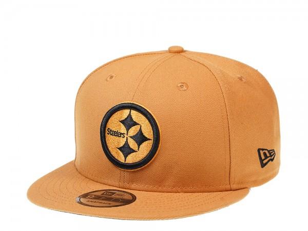 New Era Pittsburgh Steelers Panama Tan Edition 9Fifty Snapback Cap