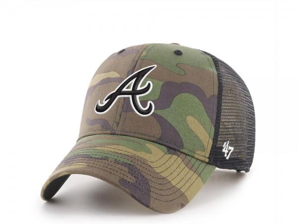 47Brand Atlanta Braves MVP Camo Trucker Snapback Cap