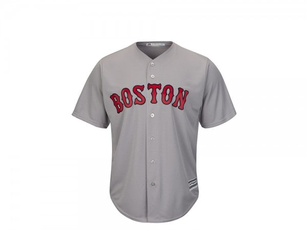Majestic Boston Red Sox Cool Base MLB Trikot grau