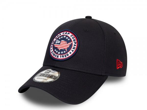 New Era NE USA Patch Navy 9Forty Strapback Cap