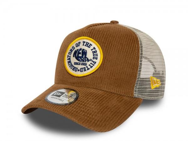 New Era Circle Patch Cord Trucker Snapback Cap
