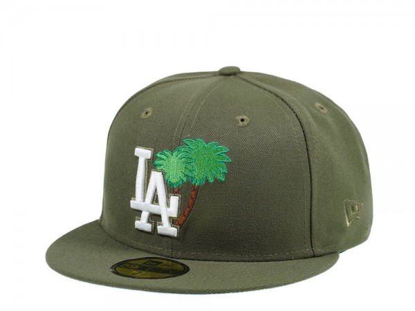New Era Los Angeles Dodgers Palm Tree Edtion Olive 59Fifty Fitted Cap
