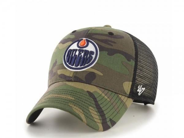 47Brand Edmonton Oilers MVP Camo Trucker Snapback Cap