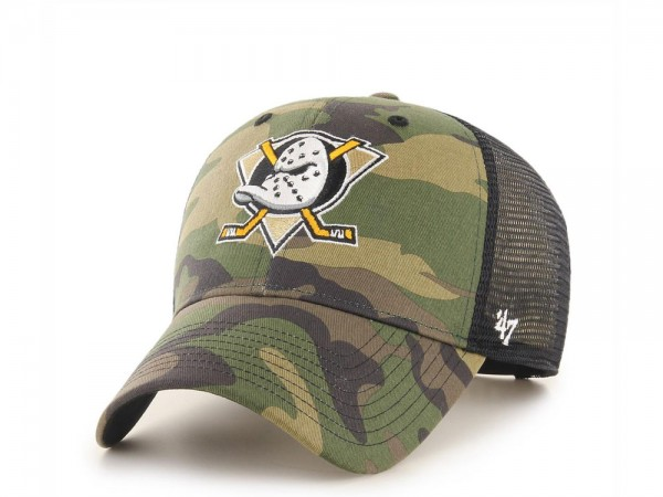 47Brand Anaheim Ducks MVP Camo Trucker Snapback Cap