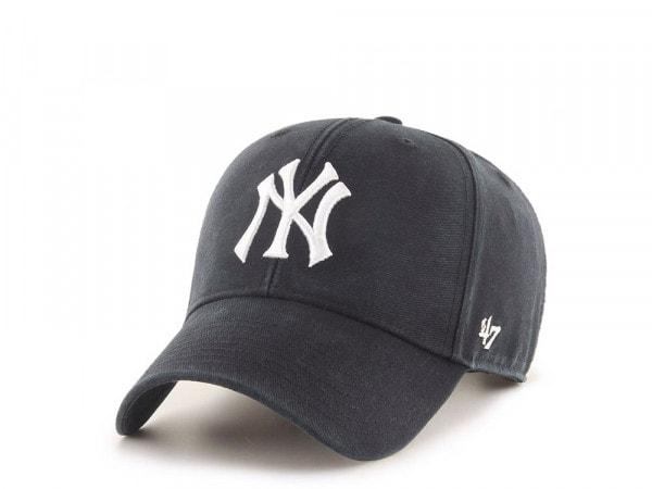 47Brand New York Yankees Legend Black MVP Strapback Cap
