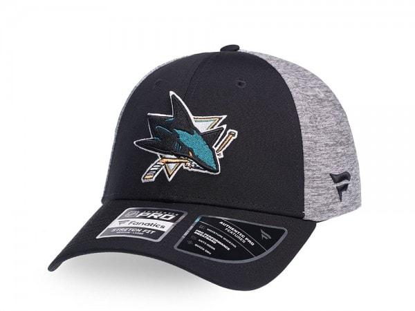 Fanatics San Jose Sharks Locker Room Stretch Fit Cap