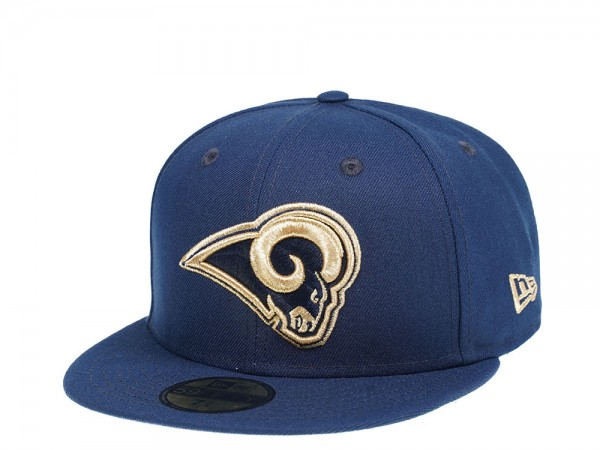 New Era Los Angeles Rams Navy and Gold Edition 59Fifty Fitted Cap