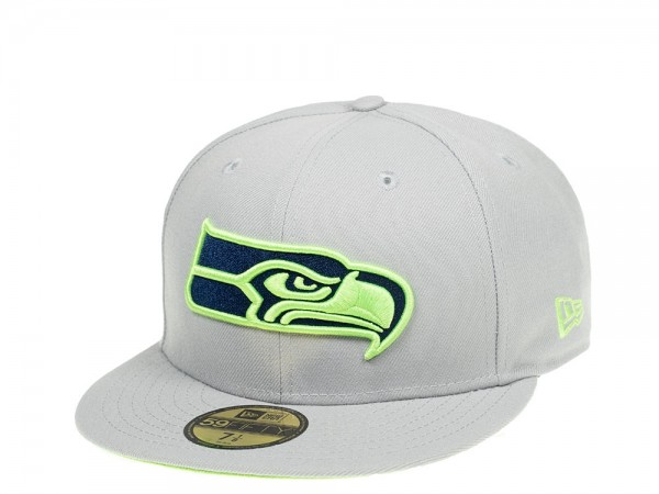 New Era Seattle Seahawks Grey meets Green Edition 59Fifty Fitted Cap