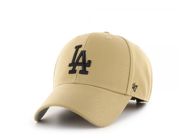 47Brand Los Angeles Dodgers MVP Old Gold Strapback Cap