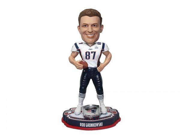 New England Patriots Rob Gronkowski Bobblehead Figur Super Bowl LIII Champs