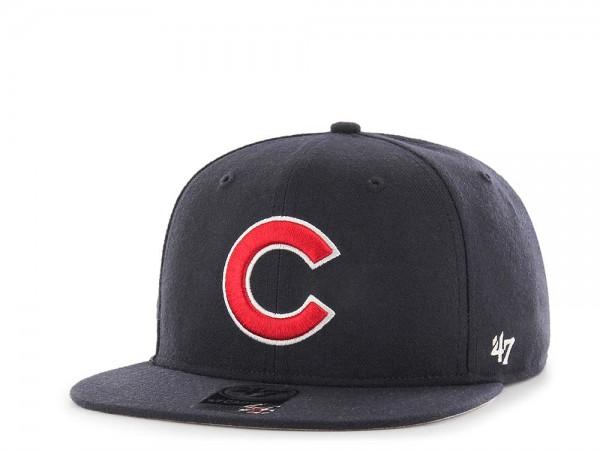 47Brand Chicago Cubs Sure Shot Captain Dark Navy Snapback Cap