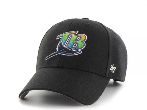 47brand Tampa Bay Rays black MVP Strapback Cap