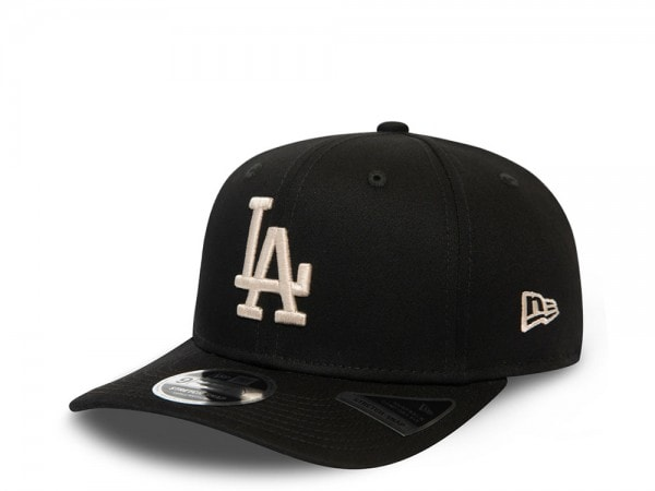 New Era Los Angeles Dodgers Black League Essential 9Fifty Stretch Snapback Cap