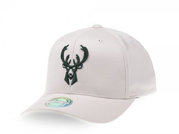 Mitchell & Ness Milwaukee Bucks Stone White Edition 110 Flex Snapback Cap