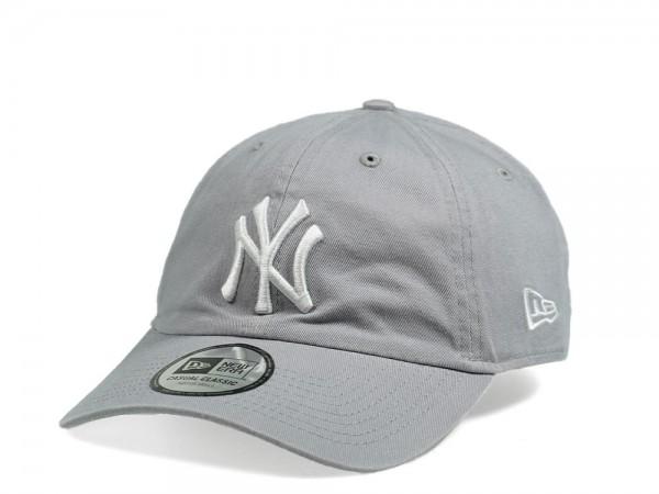New Era New York Yankees Casual Classic Gray Strapback Cap