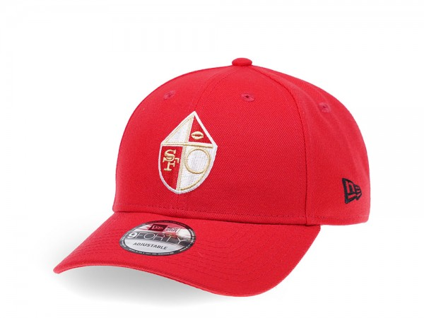 New Era New San Francisco 49ers Curved Red Edition 9Forty Snapback Cap