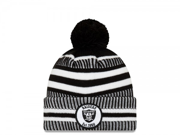 New Era Oakland Raiders Sideline 2019 Home Black Mütze