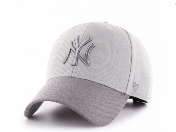 47Brand New York Yankees Steel Grey MVP Snapback Cap