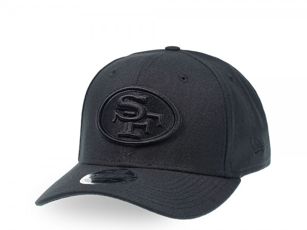 New Era San Francisco 49ers All About Black 9Fifty Stretch Snapback Cap