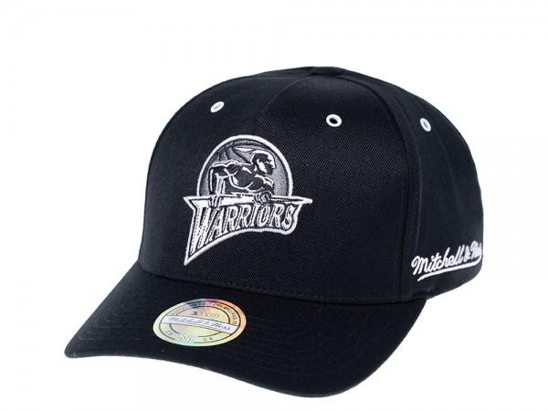 Mitchell & Ness Golden State Warriors White & Black 110 Flexfit Snapback Cap