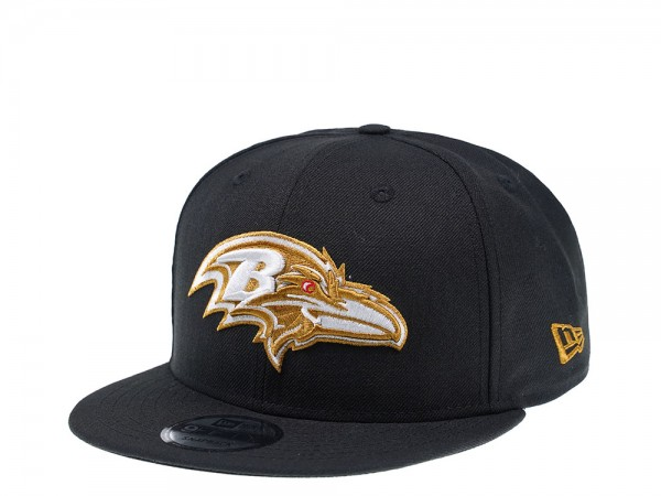 New Era Baltimore Ravens Black and Gold Edition 9Fifty Snapback Cap