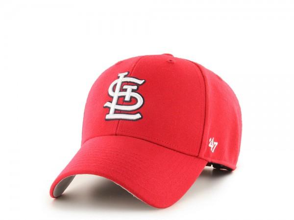 47brand St. Louis Cardinals Classic Red MVP Strapback Cap