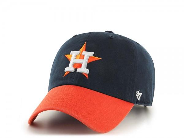 47Brand Houston Astros Clean Up Two Tone Strapback Cap